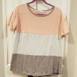 Easel Short Sleeve Colorblock Tee Size Small